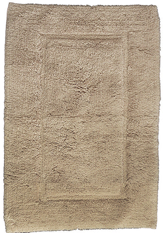 Luxury Border Cotton Bath Mat Mink-Bath Mat-Rugs 4 Less