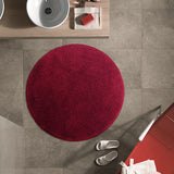 Drylon Round Mat Red in Size Round 90cm | Large Round Bath Mat