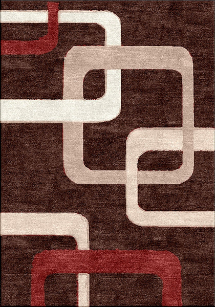 Motion 9020 Brown Extra Large Rug in Size 240cm x 330cm-Rugs 4 Less