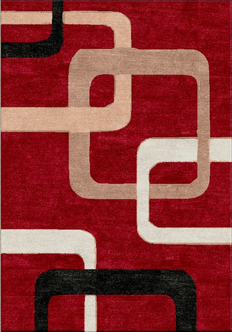 Motion 9020 Red Extra Large Rug 240x330cm-Extra Large Modern Rug-Rugs 4 Less