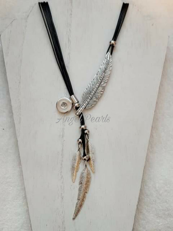 Feather Snap Necklace