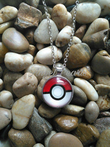 Red And White Ball Necklace