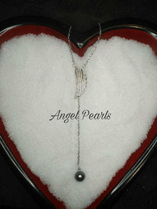 SS Angel Pearl Drop Pendant