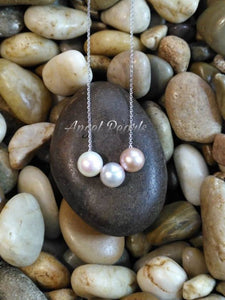 SS Floating Pearl Necklace