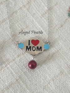 SS I Love Mom Pendant
