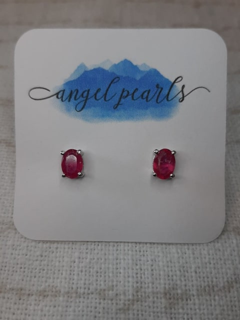 SS Ruby Earrings