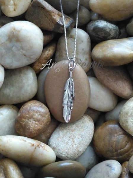 SS Feather Pendant