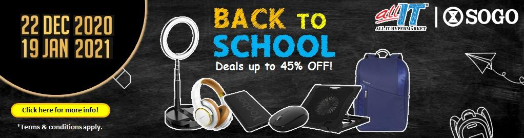 BACK TO SCHOOL DEALS UP TO 45% OFF
