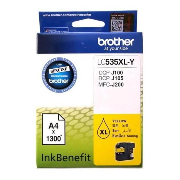 Brother LC535XL Cyan Yellow Magenta Colour Ink Cartridge