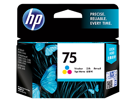 HP (75) CB337WA Tri-color Ink Cartridge