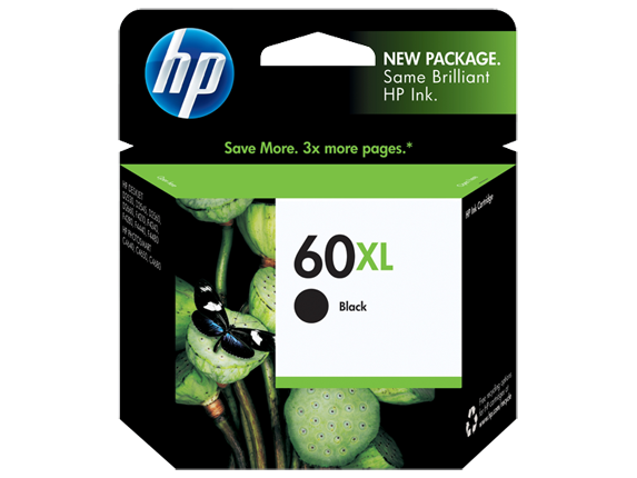 HP (60XL) CC641WA High Yield Black Ink Cartridge