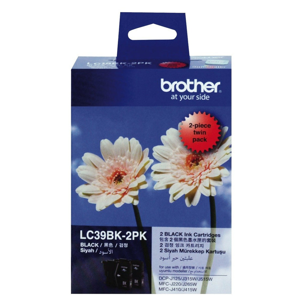 Brother LC39 2 Pack Ink Cartridge - Black