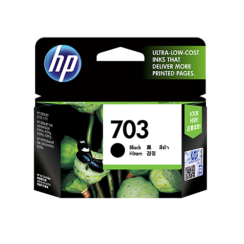 HP (703) CD887AA Black Ink Cartridge