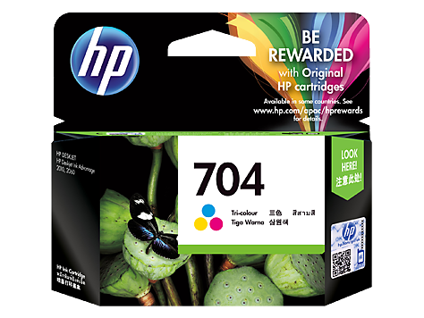 HP (704) CN693AA Tri-Color Ink Cartridge