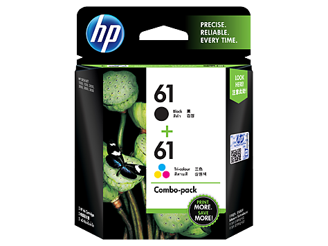 HP (61) CR311AA Black + Tri-Color Combo Pack Ink Cartridge