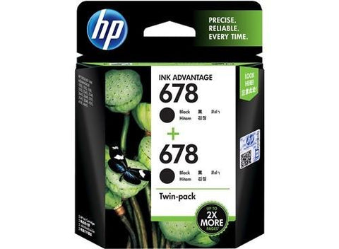 HP (678) L0S23AA Black Twin Pack Ink Cartridge