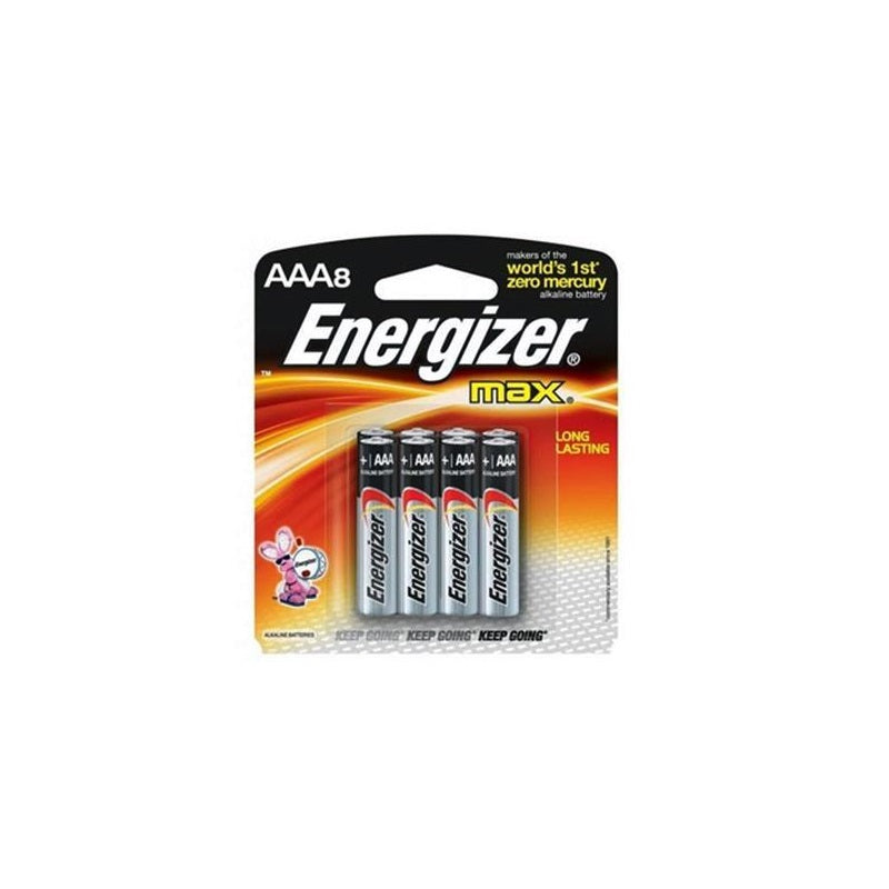 Energizer Max E92BP8 AAA Battery - 8PCS