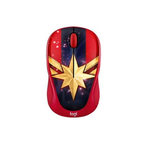 Logitech M238 Wireless USB Optical Mouse Marvel Collection - Captain Marvel