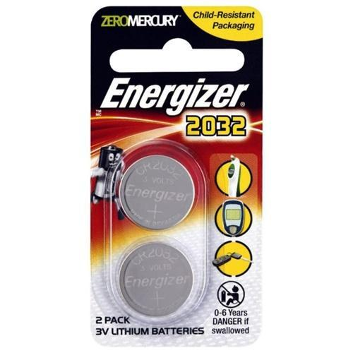 Energizer CR2032 3V Lithium Battery - 2PCS