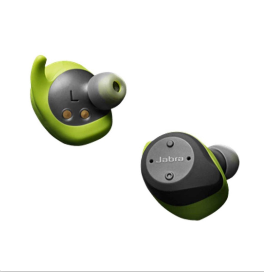 Jabra Elite Sport II Wireless Bluetooth Earbuds with Charging Case - Lime Green Grey