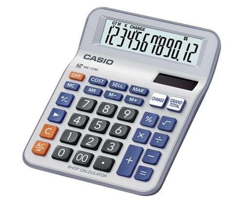 Casio MC-12M Mini Desk Type Calculator