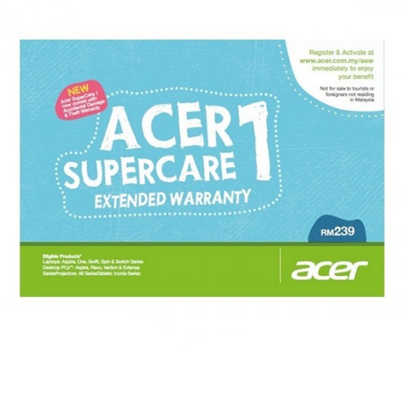 Acer SuperCare 1/SuperCare 2 On Site Extended Warranty