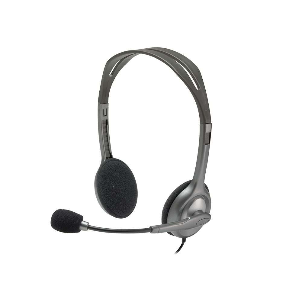 Logitech H110 Stereo Headset with Dual 3.5mm Audio Plugs Stereo Headset
