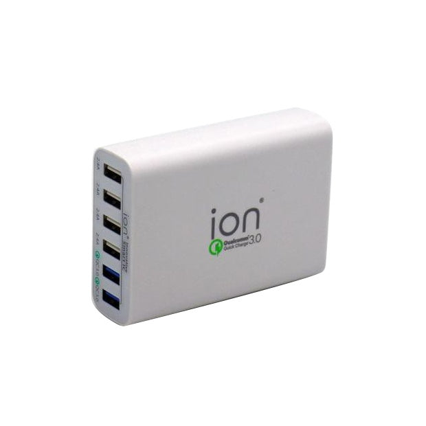 ION QC6 USB Power Station QC 3.0 Charger - 6 Ports (12A)