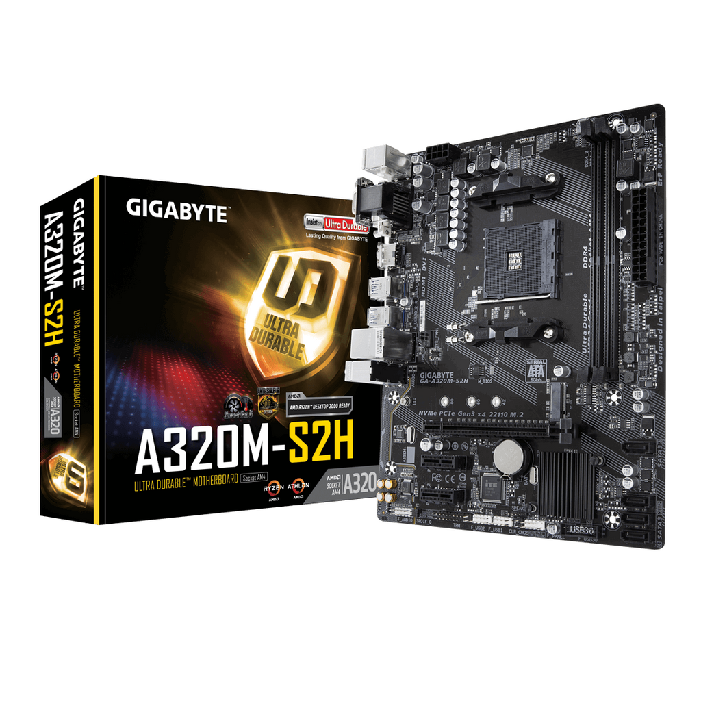 Gigabyte AMD A320M-S2H Motherboard
