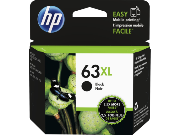 HP (63XL) F6U64AA High Yield Black Ink Cartridge