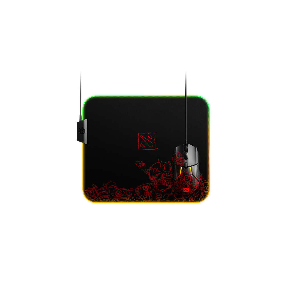 SteelSeries QCK PRISM CLOTH Dota 2 Edition Gaming Mousepad (63832) (Back to Office)