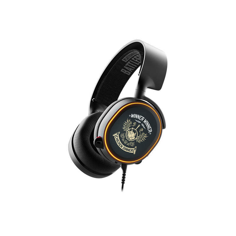 SteelSeries Arctis 5 PUBG Edition Surround RGB Gaming Headset (2019 Edition 61510)