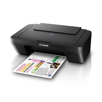 Canon PIXMA E410 Affordable All-In-One Printer (Free Gift Canon Paper 4x6 Photo Glo GP-508 20s worth RM12 & RM50 Cashback)