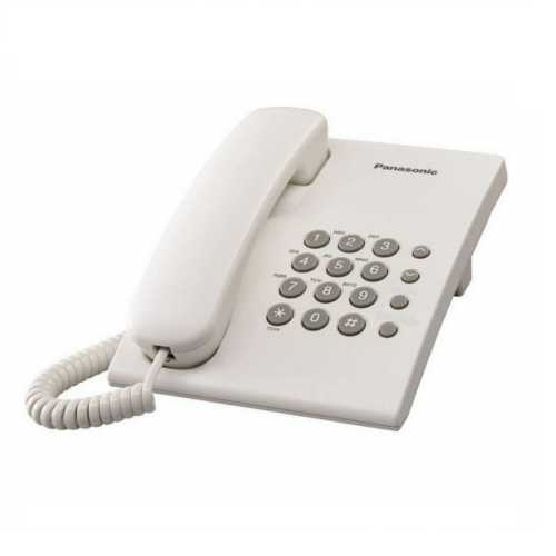 PANASONIC Single Line Wall Mountable Phone KX-TS500ML (White/Black)