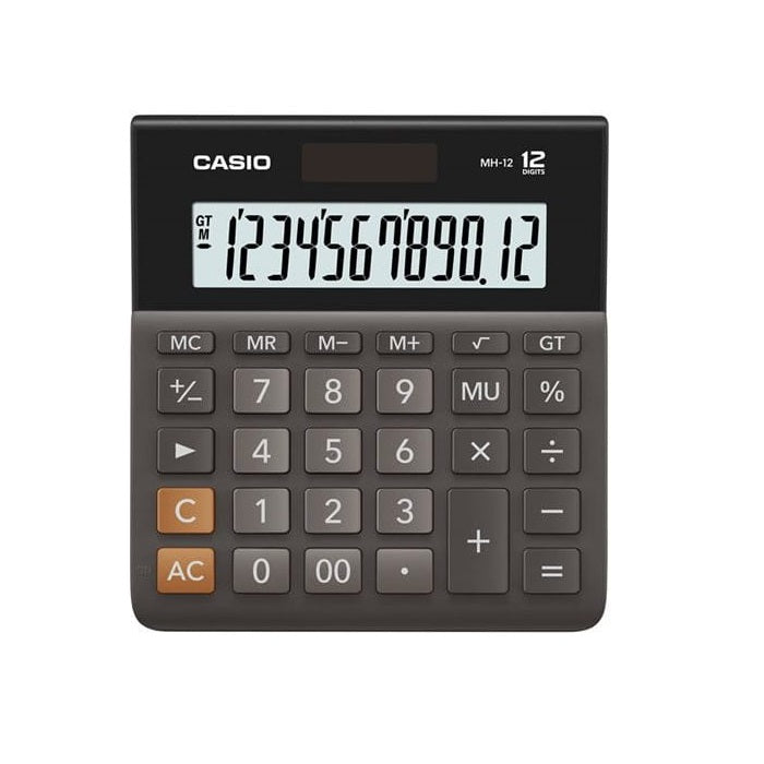 Casio DH-12BK 12-Digit Calculator