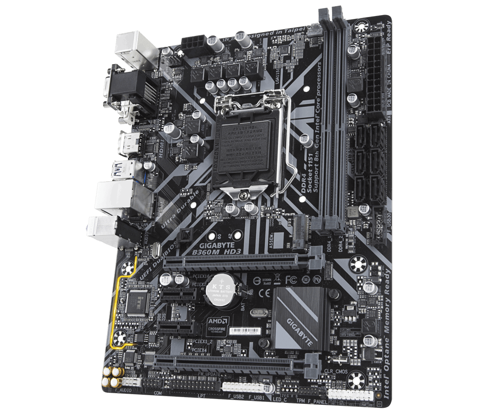 Gigabyte Intel B360M HD3 Motherboard