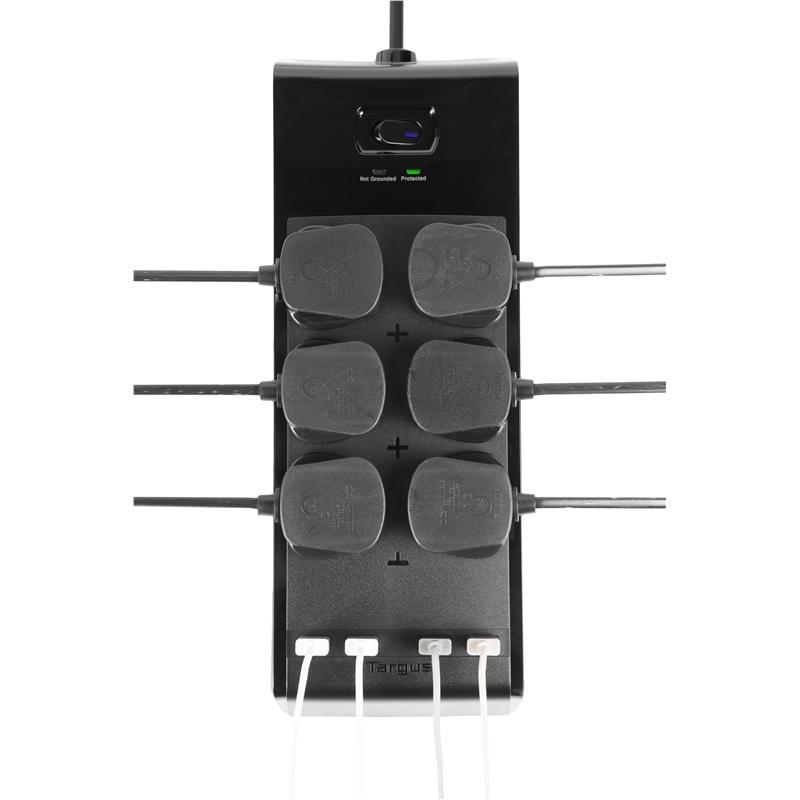 Targus Smart Surge 6 With 4 USB Ports APS11AP-50 Surge Protector