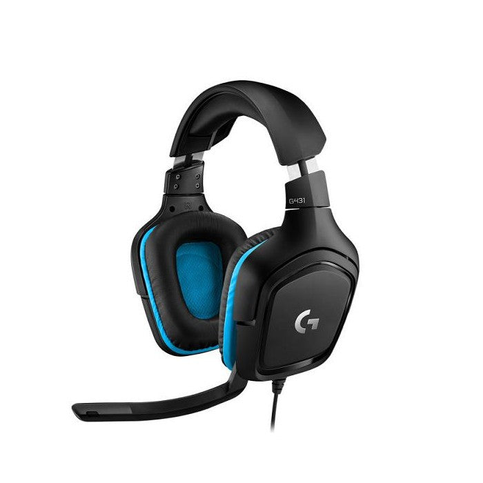 Logitech G431 7.1 Surround Sound Wired Gaming Headset - Black
