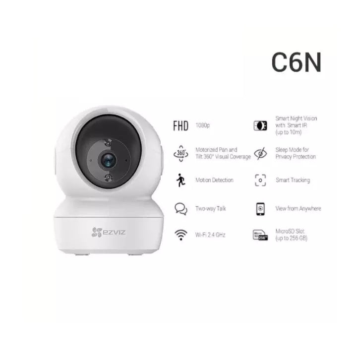 EZVIZ C6CN 720p/ C6N 1080p Pan And Tilt Smart Wi-Fi Indoor Cloud CCTV Camera