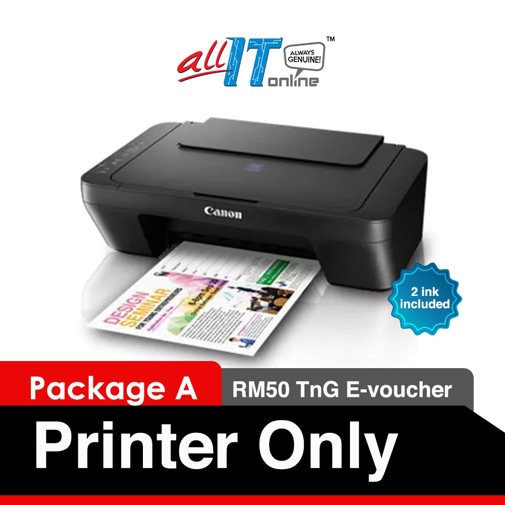 Canon PIXMA E410 All in One Printer (RM50 Cashback from Canon)