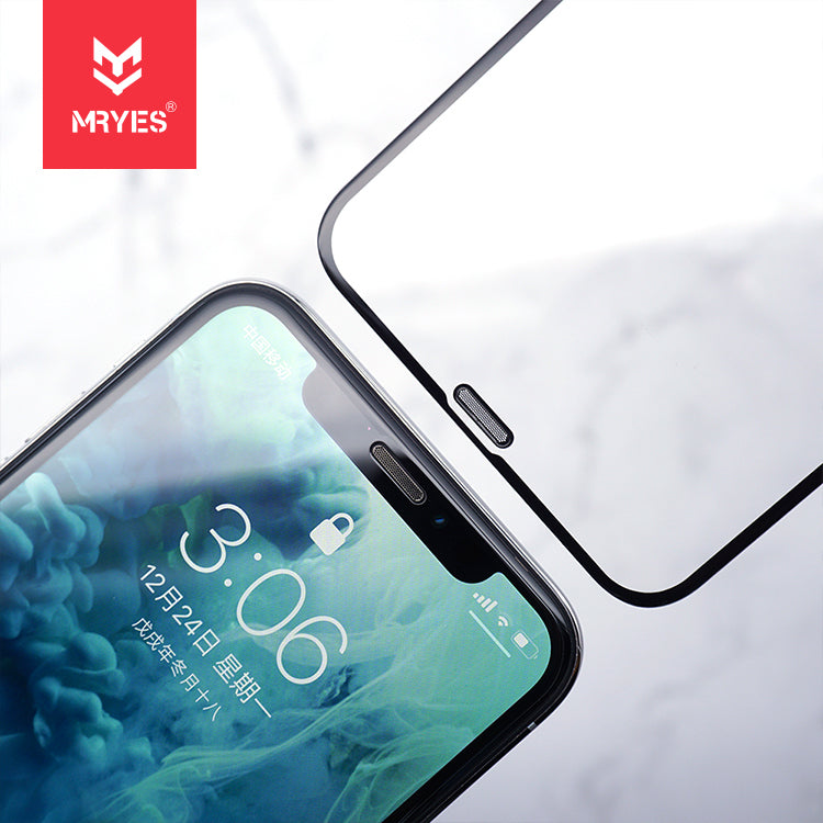 MRYES Anti-Dust Filter 2.5D EntireView Tempered Glass for iPhone 11/iPhone 11 Pro/iPhone 11 Pro Max