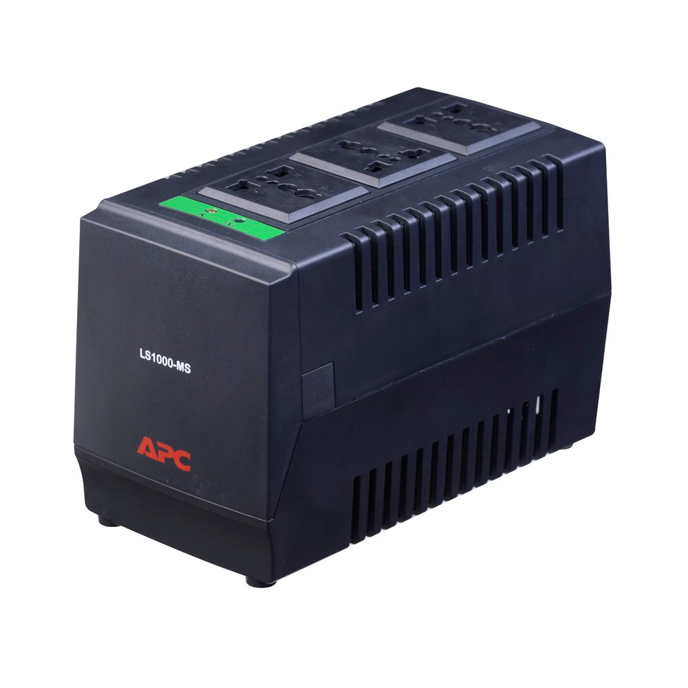 APC LS1000-MS AVR Line-R 1000VA Automatic Voltage Regulator with 3 Universal Outlets