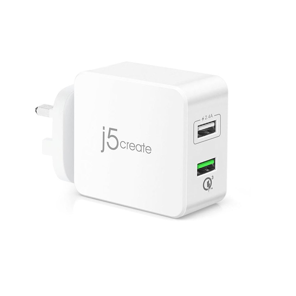 J5Create JUP20 2-Port USB QC 3.0 Charger