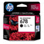 HP (678) CZ107AA Black Ink Cartridge