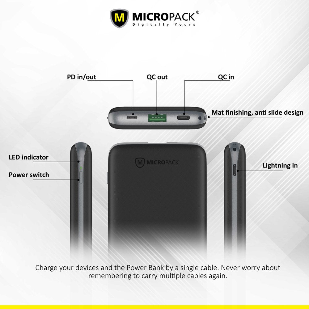 MICROPACK DISCOVERY 10,000 MAH Power Bank