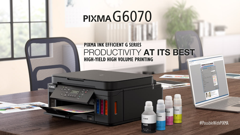 Canon PIXMA G6070 Ink Tank Wireless All-In-One Printer ( RM80 Touch N' Go E-Voucher from Canon)