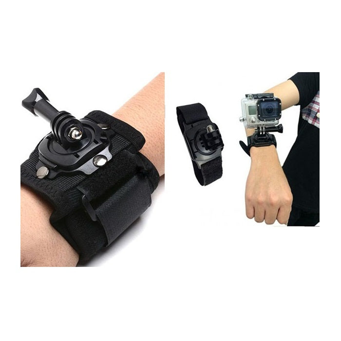 Proocam (GoPro) Wrist Strap W/Rotatable Mount (360-degree) & Thumb Toolkits  (Pro-J128)