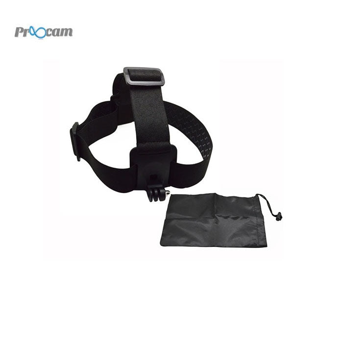 Proocam (GoPro) Head Strap Elastic & Adjustable With Storage Bag Toolkits (Pro-J023)
