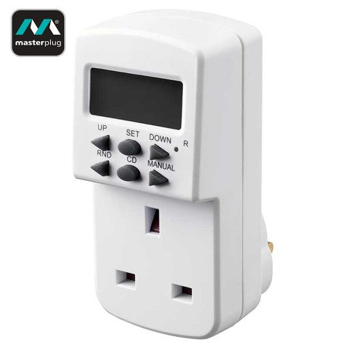 MasterPlug 7 Days Programmable Electronic Timer (TES7-MP)