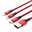 Unitek 3-in-1 USB Charging Red Cable (Type-C / Micro USB / Lightning) C4049RD